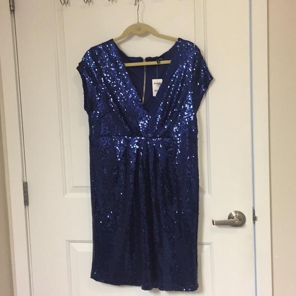 Charlotte Russe Dresses & Skirts - Blue sequin dress 1X